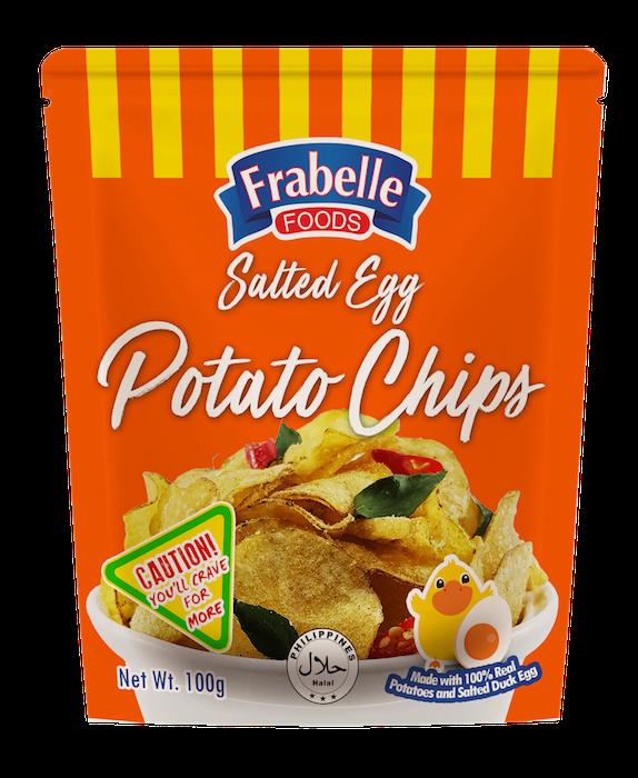 Frabelle Foods Salted Egg Potato Chips 100g photo