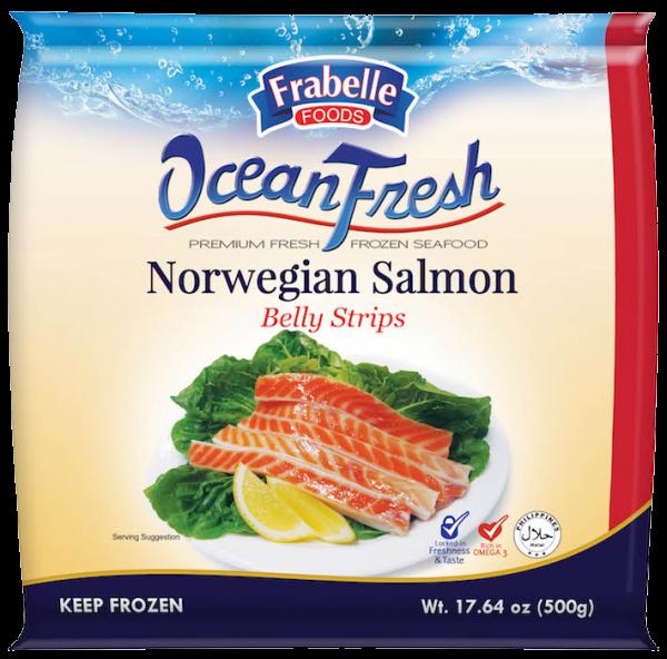 Frabelle Foods Ocean Fresh Norwegian Salmon Belly Strips 500g photo