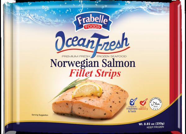 Frabelle Foods Ocean Fresh Norwegian Salmon Fillet Strips 250g photo