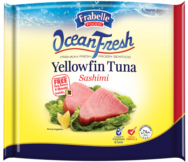 Frabelle Foods Ocean Fresh Yellowfin Tuna Sashimi 500g with FREEE Wasabi and Soy Sauce photo