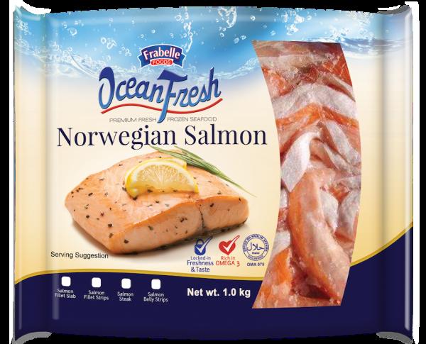 Frabelle Foods Ocean Fresh Norwegian Salmon Belly Strips 1kg photo