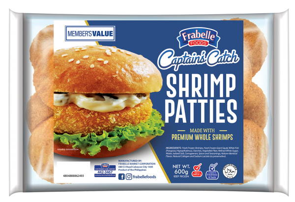 Frabelle Foods Captain's Catch Shrimp Patties 600g photo